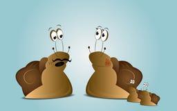 Cartoon snails family Royalty Free Stock Image