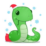 Cartoon snake. Symbol of the new year 2013 Royalty Free Stock Photo