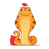 Cartoon snake. Symbol of the new year 2013 Royalty Free Stock Photography