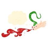 Cartoon snake biting arm Royalty Free Stock Photo