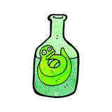 cartoon snake in bottle Stock Image