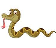 Cartoon snake character vector illustration