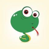 Cartoon Snake. Cartoon of a cute snake Royalty Free Stock Photo