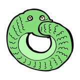 Cartoon snake eating own tail Royalty Free Stock Images