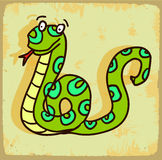 Cartoon snake illustration  , vector icon Royalty Free Stock Photos