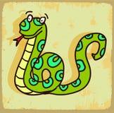 Cartoon snake illustration  , vector icon Royalty Free Stock Photos