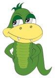 Cartoon snake, lizard on white background Stock Image