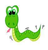 Cartoon snake, the symbol of 2013. Snake cartoon with isolation on a white background stock illustration