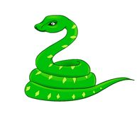Cartoon snake, the symbol of 2013 Royalty Free Stock Images