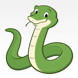 Cartoon Snake. Cartoon vector illustration of a green  snake for design element Stock Photography
