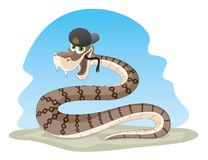 Cartoon snake. Stock Photos