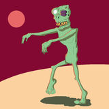 A cartoon zombie with a black eye royalty free stock images