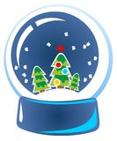 Cartoon snow globe Stock Photography