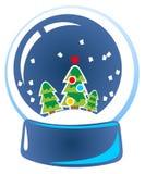 Cartoon snow globe Stock Photography