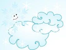 Cartoon snowflake Stock Image