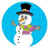 Cartoon snowman Stock Images