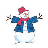 Cartoon snowman Royalty Free Stock Photography