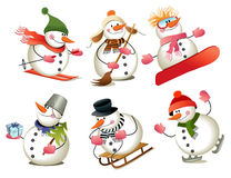 Cartoon snowman Royalty Free Stock Image