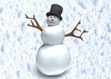 Cartoon snowman Stock Photos