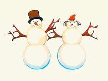 Cartoon snowman Royalty Free Stock Image