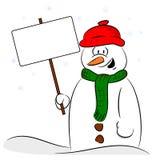 A cartoon snowman Stock Photos