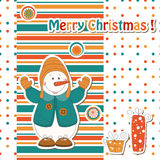 Cartoon  snowman Stock Photography