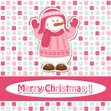 Cartoon  snowman Stock Images