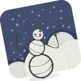 Cartoon Snowman Stock Photo