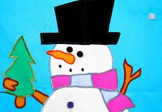 Cartoon snowman Stock Photos