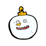cartoon snowman bauble Royalty Free Stock Photo