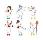Cartoon snowman character royalty free illustration