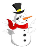 Cartoon Snowman - Christmas Vector Illustration Stock Photos