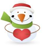 Cartoon Snowman - Christmas Vector Illustration Stock Image