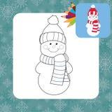 Cartoon snowman. Coloring page. Vector illustration vector illustration