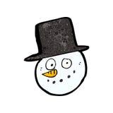 Cartoon snowman face Royalty Free Stock Photo