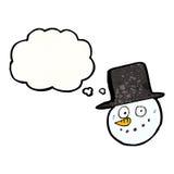 cartoon snowman head Royalty Free Stock Photo