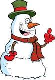 Cartoon snowman with an idea. Cartoon illustration of a snowman with an idea vector illustration