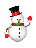 Cartoon snowman isolated over white Stock Photos