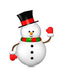 Cartoon snowman isolated over white Stock Image