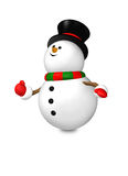Cartoon snowman isolated over white Royalty Free Stock Photo