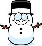 Cartoon Snowman Royalty Free Stock Photos