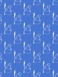 Cartoon Snowman Tile Stock Photos