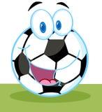 Cartoon soccer ball Stock Image