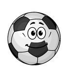 Cartoon soccer ball Royalty Free Stock Images