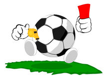 Cartoon soccer ball the judge Stock Image