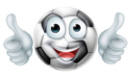 Cartoon Soccer Ball Man Character Royalty Free Stock Photo