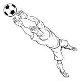 Cartoon Soccer Football Goal Keeper Player Stock Photos