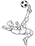 Cartoon Soccer Football Player Stock Photo