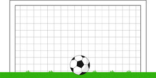 Cartoon Soccer Goal With Ball Stock Image