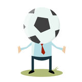 Cartoon soccer head Royalty Free Stock Photography